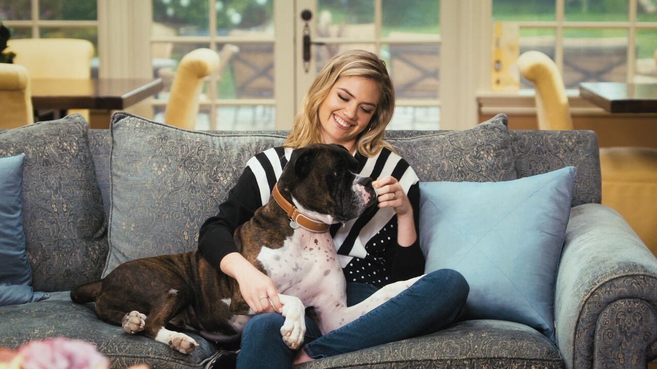 Kate Upton with her dog Harley