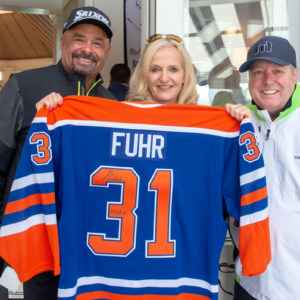 Grant Fuhr, Ann Liguori Foundation Charity Golf Classic, 2018 Sports Legend Honoree & Ann Liguori, Host of the 20th Annual Ann Liguori Charity Golf Classic and King of Queens and Kevin Can Wait Actor: Gary Valentine
