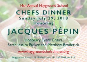 2018 Hayground Schools Chefs Dinner