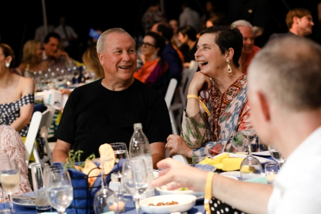 Robert Wilson and Isabella Rossellini