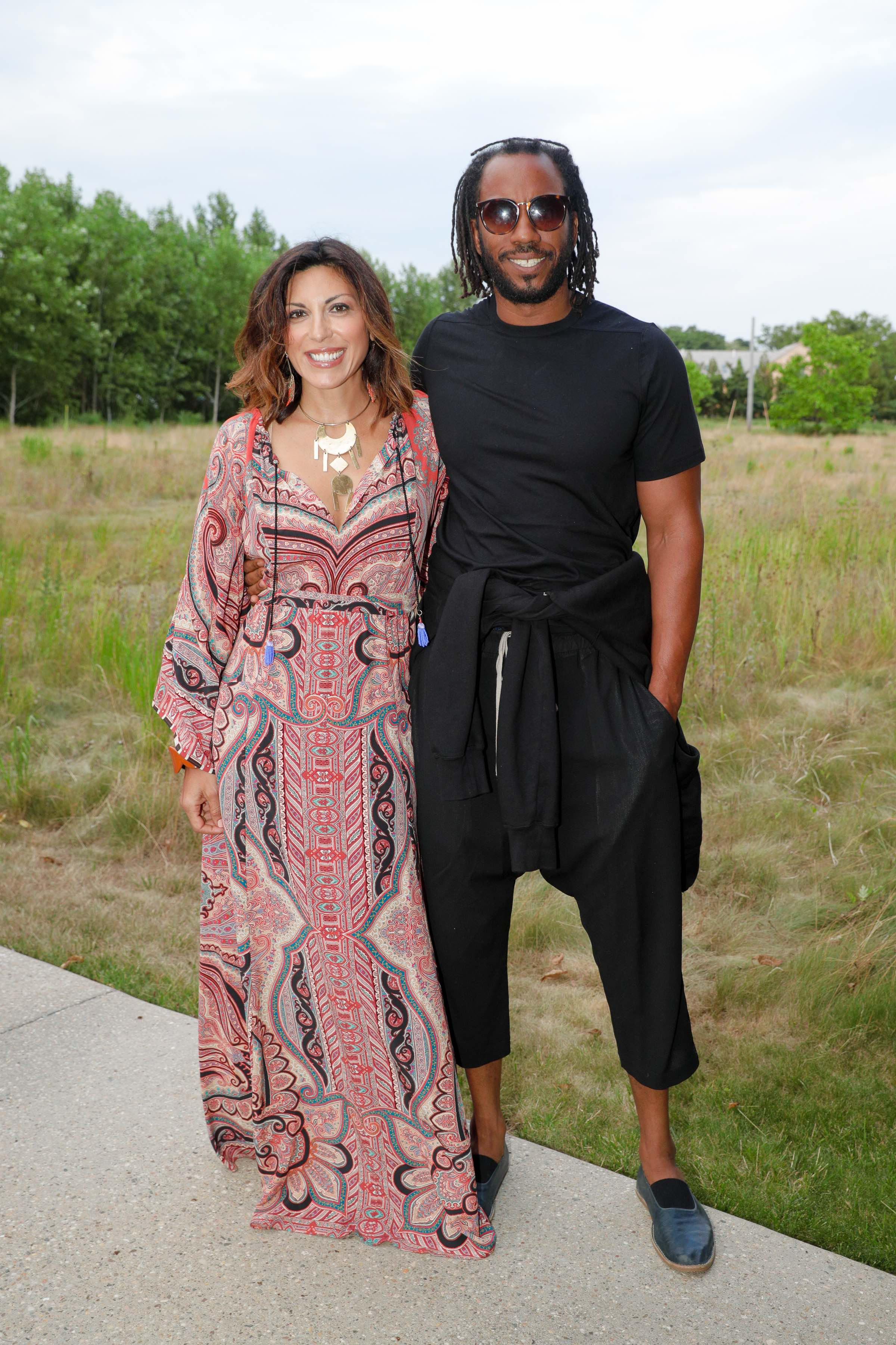 Sheree Hovsepian and Rashid Johnson