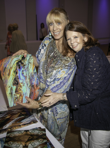 Caroline Lieberman and Lori Zelenko with images by Ted Barkhorn (Photo by: Lenny Stucker)