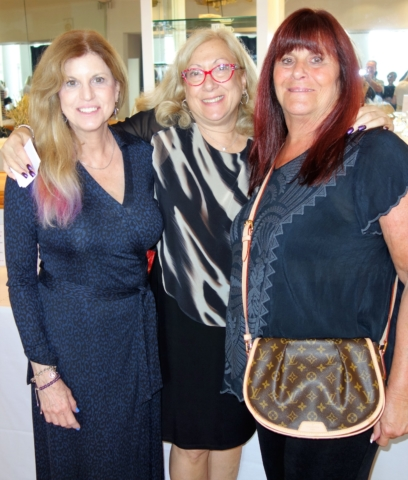 Sandi Gross (Silent Auction Chair), Linda Stoll Perlman (Pioneer Chapter President) and Candy Volkommer (Pioneer Chapter Treasurer)