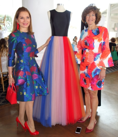 Jean Shafiroff, a beautiful gown from the CAROLINA HERRERA NEW YORK Fall 2018 collection and Elisa Greenbaum (Event Chair)