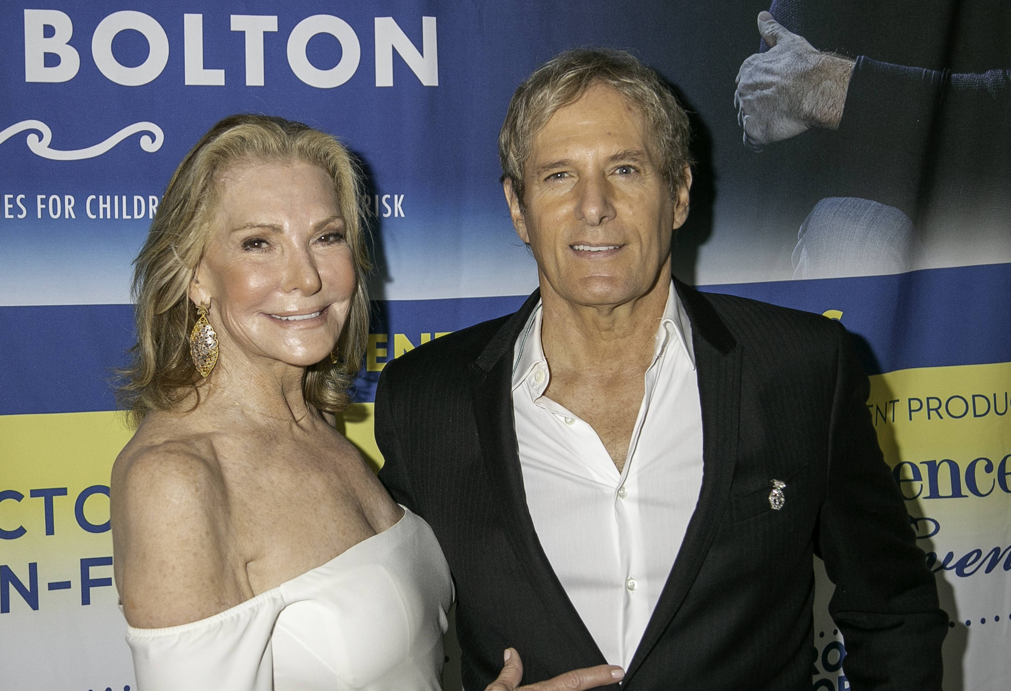 Host Victoria Moran-Furman and Michael Bolton