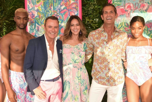 Colin Cowie, Shelly Brown, Daniel Peuscovich and Lily Pulitzer models - Photo by: Rob Rich