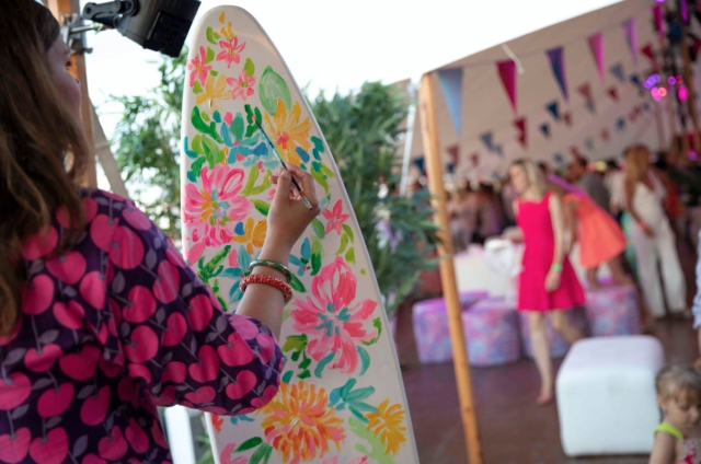 Lilly Pulitzer Board Painting - Photo by: Travis Magee