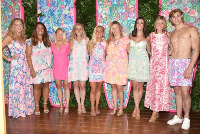 Lilly Pulitzer CEO Michelle Kelly and team - Photo by: Rob Rich