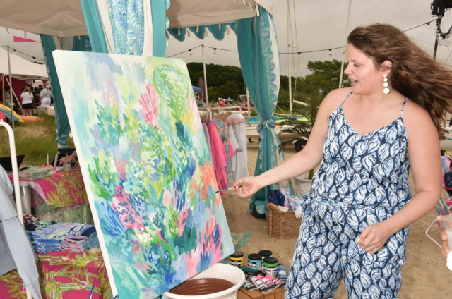 Lilly Pulitzer print painting - Photo by: Rob Rich