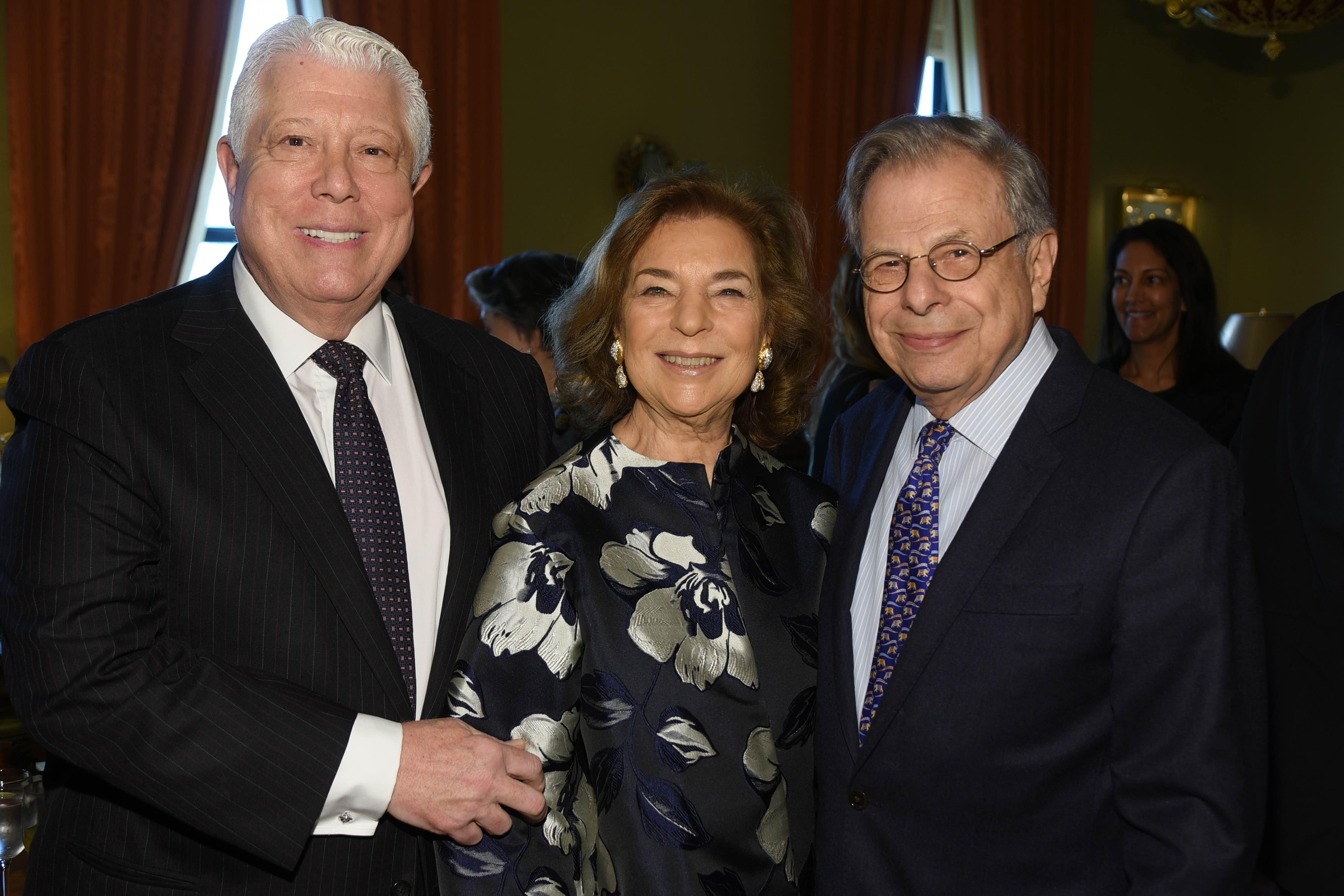 Dennis Basso, Marion Waxman and Dr Samuel Waxman